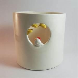 Pot A Ustensile : pot ustensiles poule et poussins ~ Teatrodelosmanantiales.com Idées de Décoration
