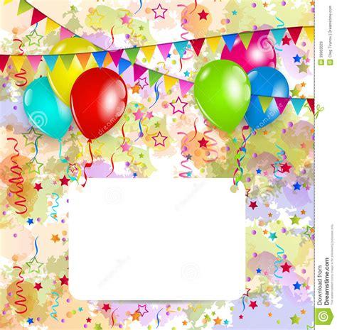 carte de voeux moderne carte de voeux moderne d anniversaire avec des ballons et