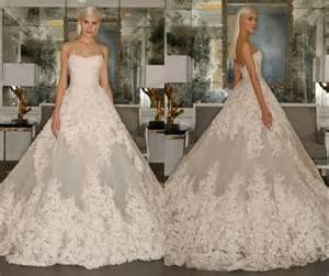 cheap gowns zuhair murad wedding dresses 2016 lace applique strapless