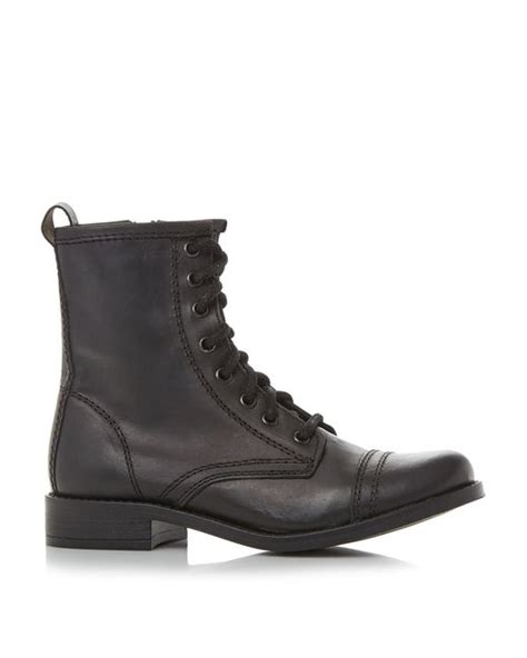 black lace up biker boots steve madden charrie lace up biker boots in black for men
