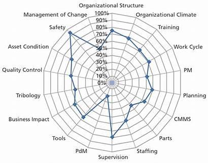 Maintenance Performance Improvement Spider Diagram Distribution Assessment