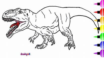 Dinosaur Drawing Draw Dinasaur Coloring Getdrawings
