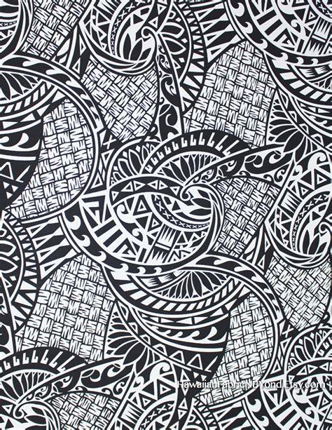 lavalava fabric polynesian tribal tattoo patterns