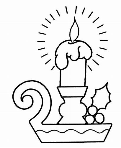 Coloring Christmas Pages Candle Candles Merry Bright