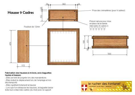 plan de fabrication de ruche dadant 10 cadres page7 apiculture ruches cadres et