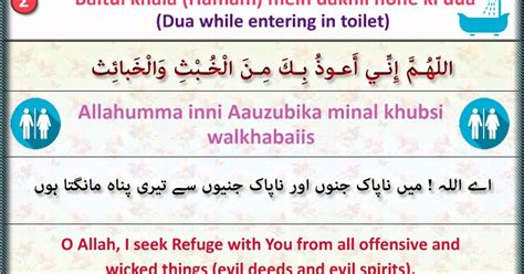 Dua For Entering Toilet With Meaning by Only Quran Hadith Designed Quran And Hadith 2 Baitul