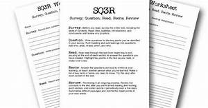 composition classroom sq3r note taking method handouts With sq3r template