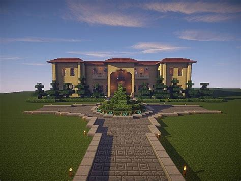 sandstone mansion minecraft house design