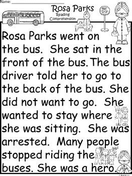 rosa parks comprehension differentiated guided reading