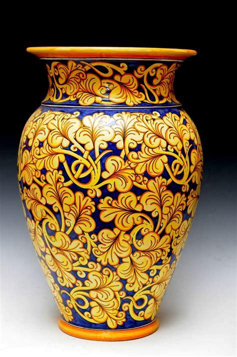 porta ombrelli decoro arabesco ceramica