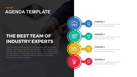 agenda powerpoint  keynote template slidebazaar