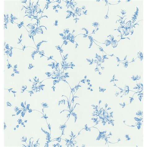 blue and white floor l shop brewster wallcovering blue and white floral