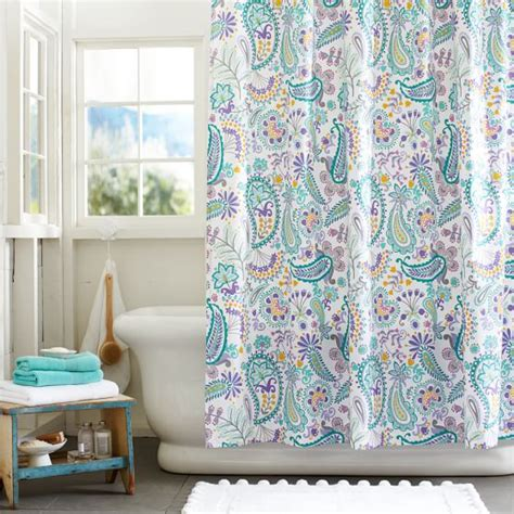 swirly paisley shower curtain pbteen