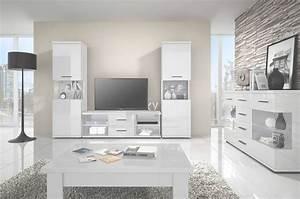 Meuble Salon Blanc : deco petit salon gris et blanc ~ Dode.kayakingforconservation.com Idées de Décoration