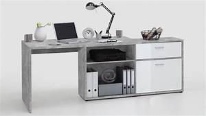Computertisch Weiß Hochglanz : eck schreibtisch diego computertisch winkeltisch beton wei hochglanz ~ Frokenaadalensverden.com Haus und Dekorationen