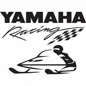 """Yamaha Racing Snowmobile Vinyl Sticker/Decal 10"""" wide by 7 ..."""