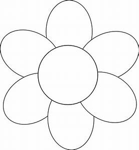 Flower Six Petals Black Outline Clip Art at Clker.com ...