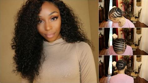 Sew In Hairstyles With No Hair Out by Indian Curly Sew In W A Closure No Glue No Leave