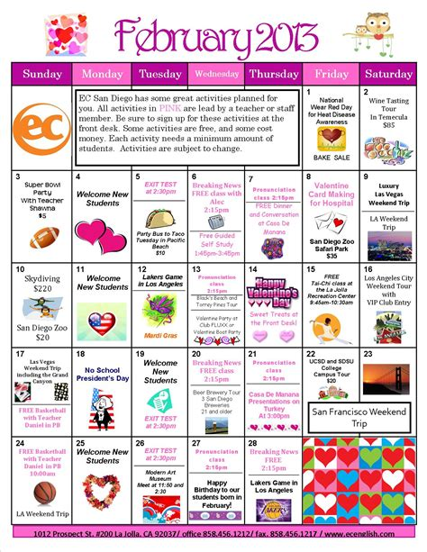 february  calendar ec san diego blog