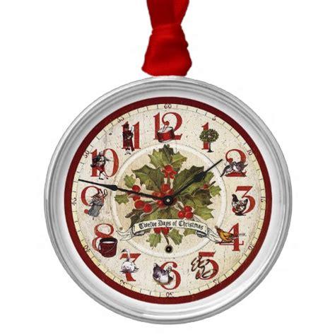 vintage 12 days of christmas ornament zazzle