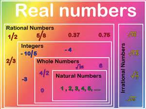 Rational Irrational Numbers Chart