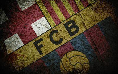 Download wallpapers Barcelona, grunge, FCB, logo, emblem ...