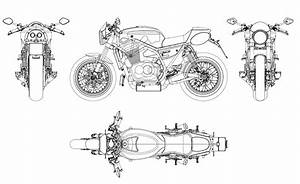 Racing Caf U00e8  Breganze Motorcycles Sf 750 Drawings