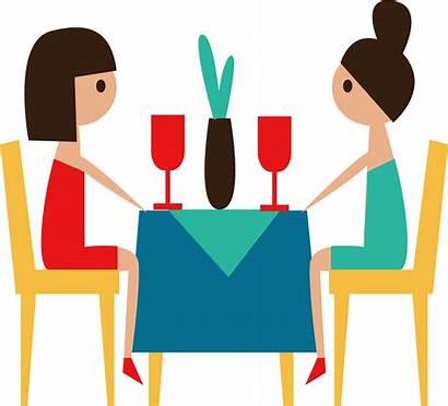 Clipart Conversation Restaurant Cartoon Transparent Sharing Job