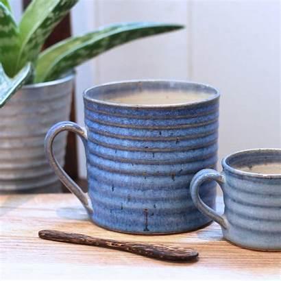 Handmade Mug Ribbed Pottery Notonthehighstreet Doran