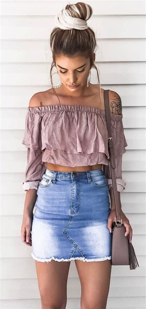 15 best denim skirt summer outfits to copy right now - Page 7 of 15 - myschooloutfits.com