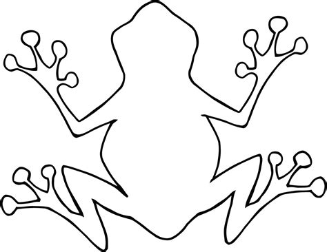 frog template tree frog outline clipart panda free clipart images