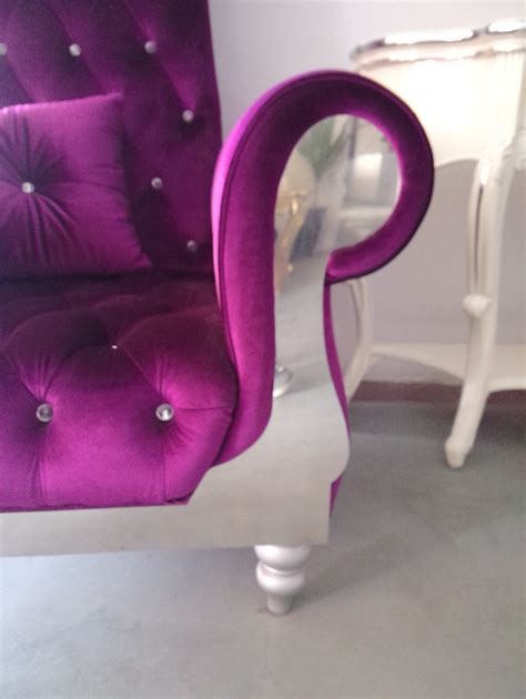danxueya purple rococo style high back wooden chair for