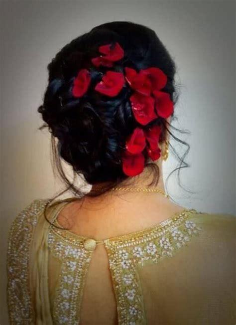 flower bun  evening wear bridal hairdo hair styles
