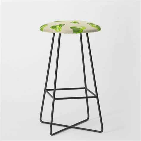 Posted in photoshop » banner & mockup template. Lettuce Bok Choy Vegetable Bar Stool by notsniw | Society6