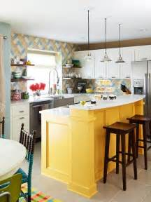 island kitchen yellow kitchen islands