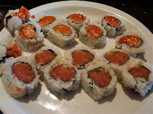 spicy tuna roll & spicy salmon roll   Yelp