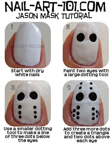 simple easy scary halloween nail art tutorials