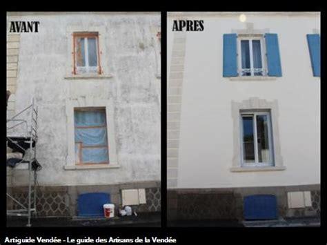 Facade Avant Apres by Bonnaud Claude Sarl Peintre En Batiment La Roche Sur Yon