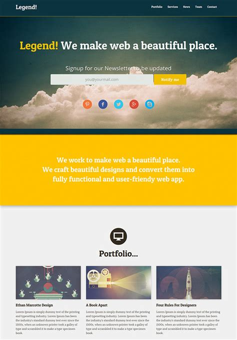 page html psd website templates web