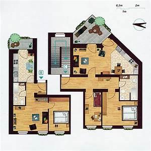 Quadratmeter Einer Wohnung Berechnen : statt einer gro en wohnung pro etage k nnen im 1 3 obergeschoss alternativ auch zwei ~ Themetempest.com Abrechnung