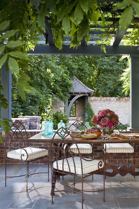 inviting patio escapes traditional home