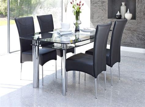 inspirations smoked glass dining tables  chairs