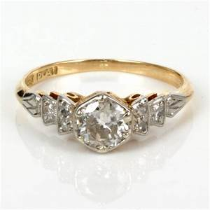 buy antique diamond engagement ring in gold and platinum With antique diamond wedding ring