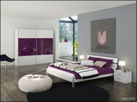 chambre violet et blanc décoration chambre violet et blanc déco sphair