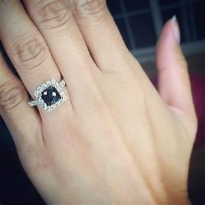 Black Diamond Engagement Ring On Finger | www.pixshark.com ...