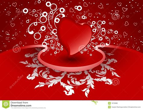 creative valentine greeting card  heart  red color