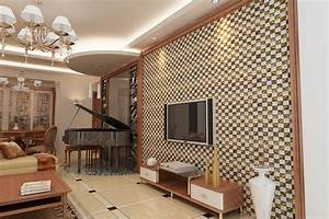luxury living room design wall with mosaic ceramic tile With tiles design for living room wall