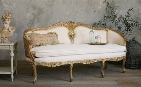 Shabby Chic Settee Furniture by Vintage Shabby Louis Xv Style Settee Gilt Antique