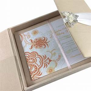 black packaging box with gold logo foil print luxury With wedding invitation in boxes couture