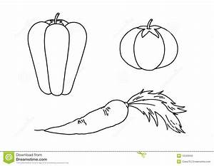 vegetables clipart black and white 10 id-28776 | Clipart ...